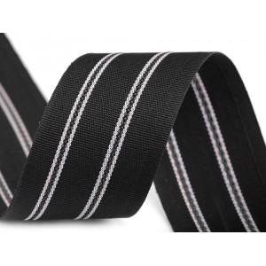 Jmenovka papírová s bordurou natural, perleťová bílá 10ks