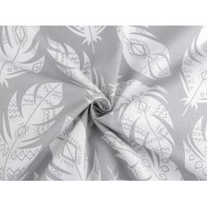 Brož květ a list s broušenými kamínky zlatá 1ks