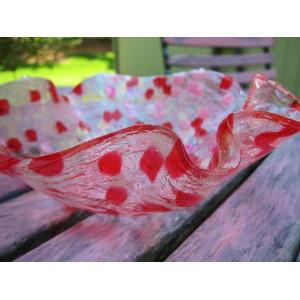 Dětský pásek se suchým zipem šíře 2,7 cm červená 1ks