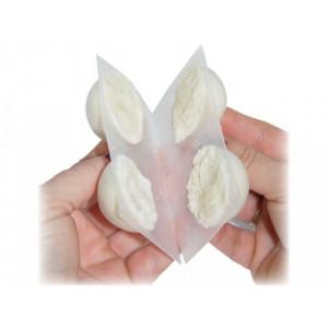 Šátek folklór květy s třásněmi 105x105 cm červená 1ks
