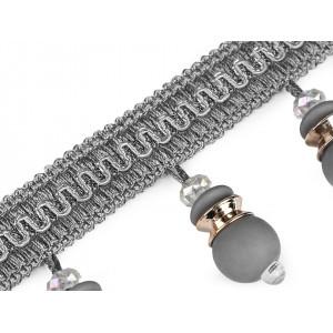 Vánoční bavlněná látka vločky 380951 zelená tmavá 1m